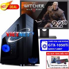 May Tinh Game Khủng I5 6400 H110 Card Rời Nvidia Gtx 1050Ti Ram 16Gb 250Gb Dell 22Inch Vietnet Mới Nhất
