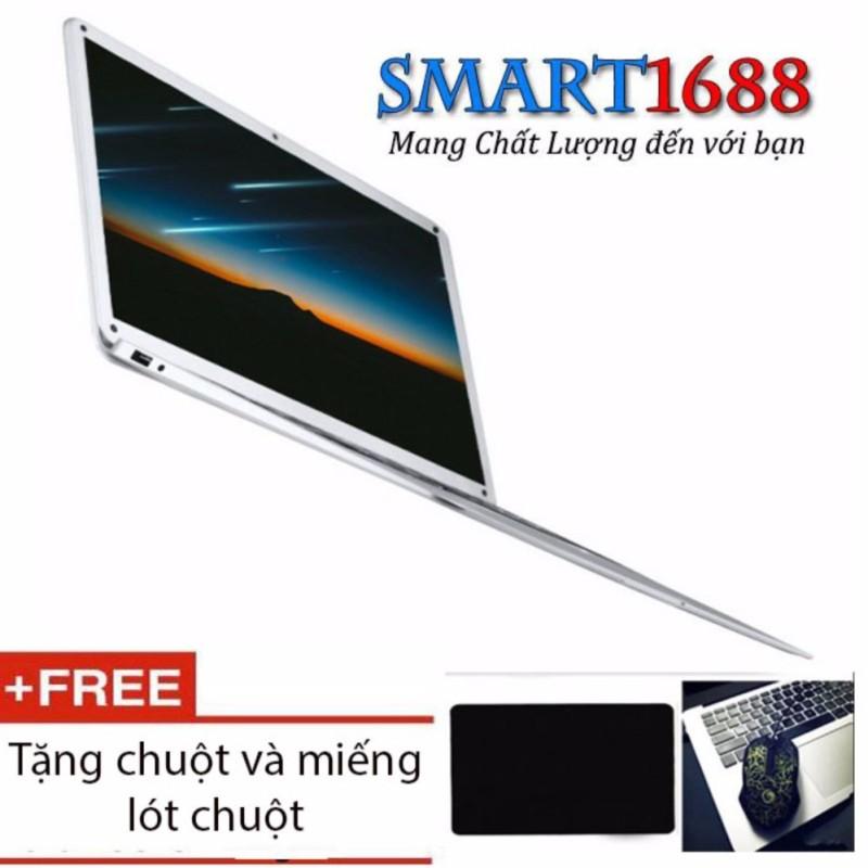 máy tính xách tay Laptop WeiPai Book siêu mỏng 14 inch, 1,2Kg 10.000mAH chip Cherry Trail Z8350, Ram 2G -32Gb- (Silver) + tặng combo chuột và lót chuột