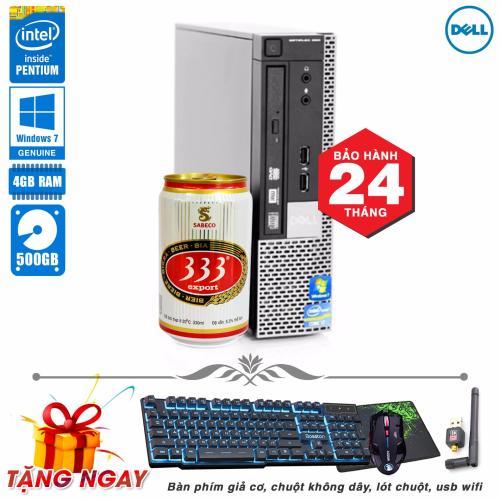 Máy vi tính siêu nhỏ Dell Optiplex 990 USFF Pentium G620, Ram 4GB, HDD  500GB (Tặng phím giả Cơ, chuột không dây, lót chuột, usb