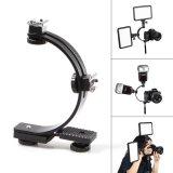 Meking C Shape Dual Flash Hot Shoe Bracket for DV Video Light Trigger Flash Camera (Black) - intl