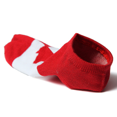 Men Women National Flag Ankle Low Cut Casual Cotton Socks Sport Boat Invisible Canada - Intl