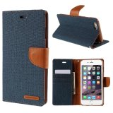 Mua Mercury Goospery Canvas Diary Leather Case For Iphone 6S Plus 6 Plus Plus With Stand Dark Blue Mercury