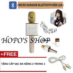 Bán Mua Mic Hat Karaoke Kem Loa Bluetooth Q7 Tặng Cap 2 In 1