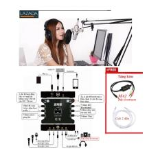 Bán Mua Trực Tuyến Mic K200 Cũng Thua Mic Thu Am Bm800 Full Bộ Từ A Z Kem Day Live Stream Ma2 Soundcard Xox K10 Karaoke Online Thỏa Thich Gia Mic Hat Karaoke