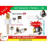 Cửa Hàng Mic Karaoke Bluetooth Mới Nhát Kèm Loa 3 Trong 1 Q9 Tặng Đèn Led Hà Nội
