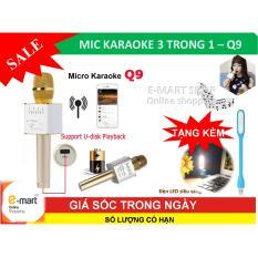 Bán Mic Karaoke Bluetooth Mới Nhát Kèm Loa 3 Trong 1 Q9 Tặng Đèn Led Hà Nội