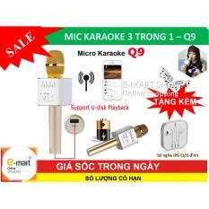 Bán Mic Karaoke Bluetooth Mới Nhát Kèm Loa 3 Trong 1 Q9 Tặng Kèm Tai Nghe Ip6 Nguyên