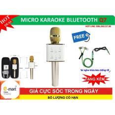 Giá Bán Micro Hát Karaoke Bluetooth Q7 Tót Nhát Tai Nghe Zipper Chóng Rói Cao Cáp Rẻ Nhất