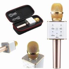 Micro karaoke Bluetooth thế hệ mới 2017 kiêm loa Q7 3 trong 1  Tặng nút chống bụi