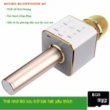 Chiết Khấu Sản Phẩm Micro Karaoke Tich Hợp Loa Bluetooth Q7 Vang Kem 1 Thẻ Nhớ 8G Nghe Nhạc