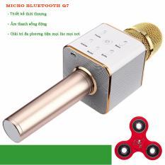 Hình ảnh Micro karaoke tích hợp Loa Bluetooth Q7 (Vàng) tặng 1 spinner