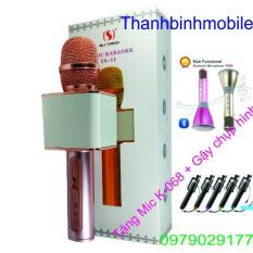 Giá Bán Micro Kem Loa Karaoke Bluetooth Ys 11 Mau Hồng Tặng Mico K068 Gậy Chụp Hinh Tốt Nhất
