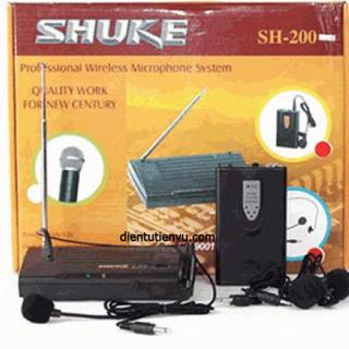 [HCM]Micro không dây Đeo tai + cài áo Shuke SH-200 (Kèm 2 Mic) thumbnail