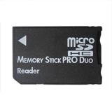 Bộ chuyển đọc thẻ Micro SD SDHC TF sang thẻ nhớ MS Pro Duo PSP \n(Đen) - Intl