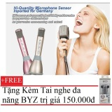 Bán Micro Thong Minh K068 Co Bluetooth Karaoke Tich Hợp Loa 3 Trong 1 Hồng Tặng Tai Nghe Byz S389 Đen Người Bán Sỉ