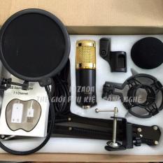 Hình ảnh Micro Thu Âm BM900 Full Bộ Chân kẹp - Lưới lọc