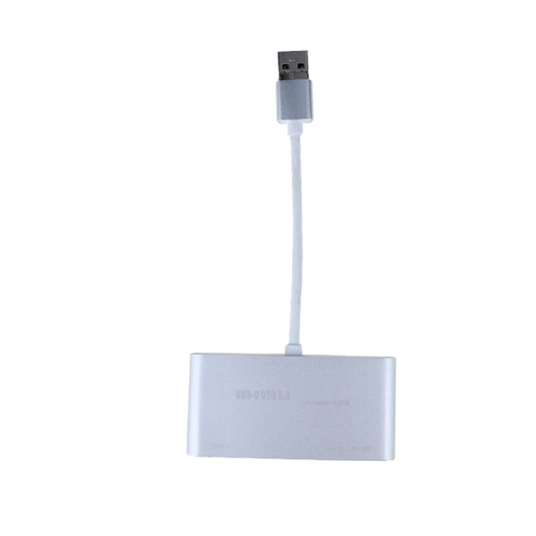 Micro USB 3.0 OTG HUB SD/TF Card Reader Combo Adapter for PC Phone(Silver) - intl(Bạc)