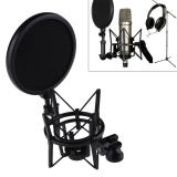 Giá Bán Microphone Mic Professional Shock Mount With Pop Shield Filter Screen Intl