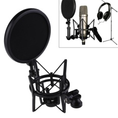 Hình ảnh Microphone Mic Professional Shock Mount with Pop Shield Filter Screen - intl