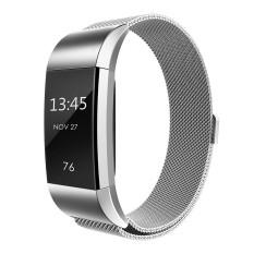 Hình ảnh Milanese Dây Thép không gỉ Dây Đeo Vòng Tay Dành Cho Fitbit Charge 2-quốc tế