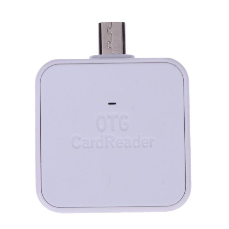 Mini 2 trong 1 CỔNG Micro USB 2.0 OTG Adapter SD TF Đầu Đọc Thẻ dành cho Android (Trắng) -quốc tế