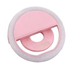 Mini Clip-on Mobile phone Selfie Ring Light Lamp 36 LEDs Fill-in Light 3 Mo(Pink) - intl