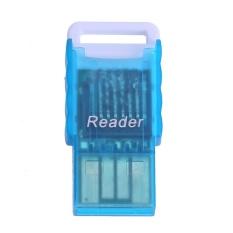 Mini Di Động Micro SD sang USB 2.0 TF Thẻ Nhớ Adapter Đầu Đọc (Xanh Dương)-quốc tế
