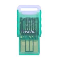 Mini Di Động Micro SD sang USB 2.0 TF Thẻ Nhớ Adapter Đầu Đọc (Xanh Lá)-quốc tế