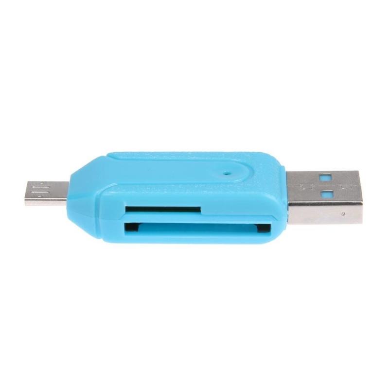 Bảng giá Mini TF/SD Đầu Đọc Thẻ USB/Cổng Micro USB có Chức Năng OTG cho Điện Thoại Thông Minh (Xanh Dương) -quốc tế Phong Vũ