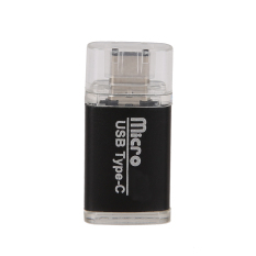 Đầu đọc thẻ nhớ TF USB 3.1 Mini Loại-C Adapter OTG (Đen)-Quốc tế