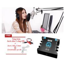 Mã Khuyến Mại Mix Thu Am Bộ Mic Thu Am Bm800 Soundcard Xox K10 Full Phụ Kiện Gia Pha San Thiết Bị Phong Thu Oem