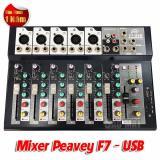 Bán Mixer Ban Mini Peavey F7 Usb Cho Gia Đinh Va San Khấu Ngoai Trời Peavey Có Thương Hiệu