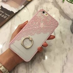 Mobile Phone Ring Lace Cover Case For App.le I.phone 6/6s Black - intl