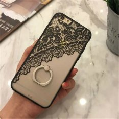 Mobile Phone Ring Lace Cover Case For App.le I.phone 6s Plus (Black) - intl