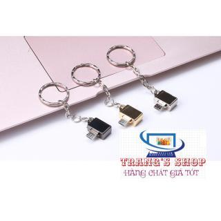 Móc đeo chìa khóa đầu chuyển Micro USB OTG - Hàng nhập khẩu (ma u ba c , ma u Va ng) thumbnail