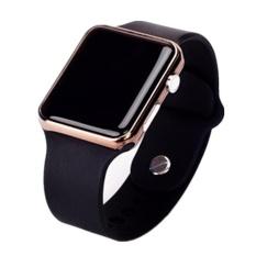 Hình ảnh Đồng hồ điện tử thể thao chống nước mặt gương vuông, dây cao su (Đen)