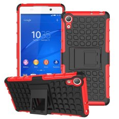 Cửa Hàng Mooncase Case For Sony Xperia Z4 Detachable 2 In 1 Shockproof Tough Rugged Prevent Slipping Dual Layer Case Cover With Built In Kickstand Red Intl Trong Trung Quốc