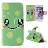 Ôn Tập Moonmini Case For Iphone 6 Iphone 6S 4 7 Inch Leather Case Flip Stand Cover Smile Face Intl