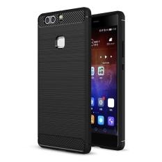 Bán Moonmini Cho Huawei P9 Plus Sợi Carbon Chải Mềm Tpu Chống Trơn Trượt Ốp Lưng Đen Quốc Tế Có Thương Hiệu