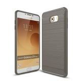 Giá Bán Moonmini Danh Cho Samsung Galaxy Samsung Galaxy C9 Pro Sợi Carbon Chải Mềm Tpu Chống Trơn Trượt Ốp Lưng Mau Xam Quốc Tế Moonmini Tốt Nhất