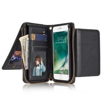 Đa chức năng Kinh Doanh PU Bao Da Ví Da Túi đựng dành cho Apple iPhone 6/6 s quốc tế