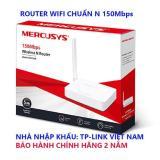 MW155R - ROUTER MERCUSYS WIFI CHUẨN N 150Mbps - HẢNG BẢO HÀNH 2 NĂM