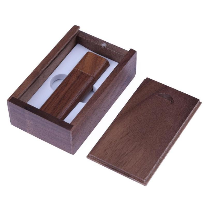 Bảng giá Natural Walnut Case USB2.0 Port Flash Memory Disk with Wooden Package Box(Brown)-2G - intl Phong Vũ