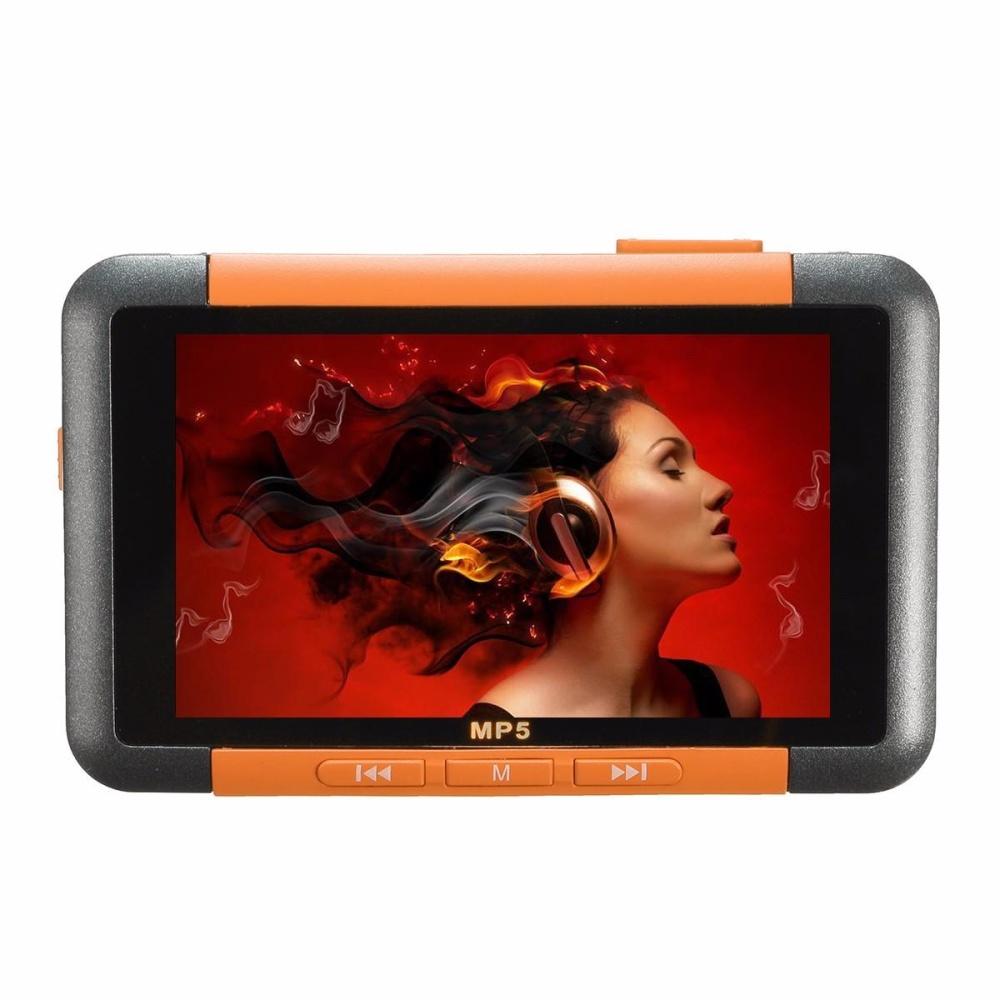 "New 8Gb 3"" Slim Lcd Screen Mp4 Mp5 Video Music Media Player Fm Radio Recorder Orange"