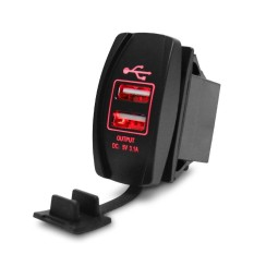 Hình ảnh Mới Ô Tô Xe máy Chống Nước 3.1A Dual USB Ổ Cắm Sạc Điện LED 12-24 v-quốc tế