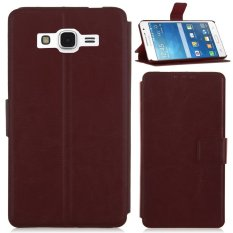 Mua New For Samsung Galaxy Grand Prime G530H G5308W Flip Folding Case Stand Cover Brown Overseas Intl Mới Nhất
