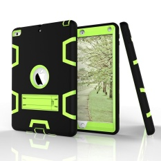 Bán Three Layer Kickstand Armor Defender Heavy Duty High Impact Resistant Shock Absorption Full Body Rugged Hybrid Protective Case For Apple New Ipad 9 7 Inch Intl Trung Quốc