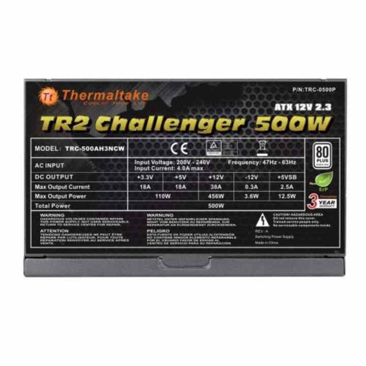 Nguồn máy tính Thermaltake TR2 500W A.PFC 80Plus Bronze (TR2-500P)