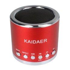 NiceEshop KD-MN02 Mini Music SD USB FM Speaker For PC Mobile Phone MP3 Player (Red) - intl