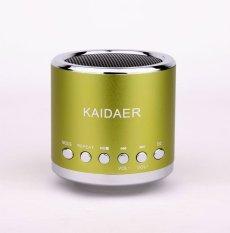 NiceEshop KD-MN02 Portable Mini Music SD USB FM Speaker For PC Phone MP3 Player (Green) - intl